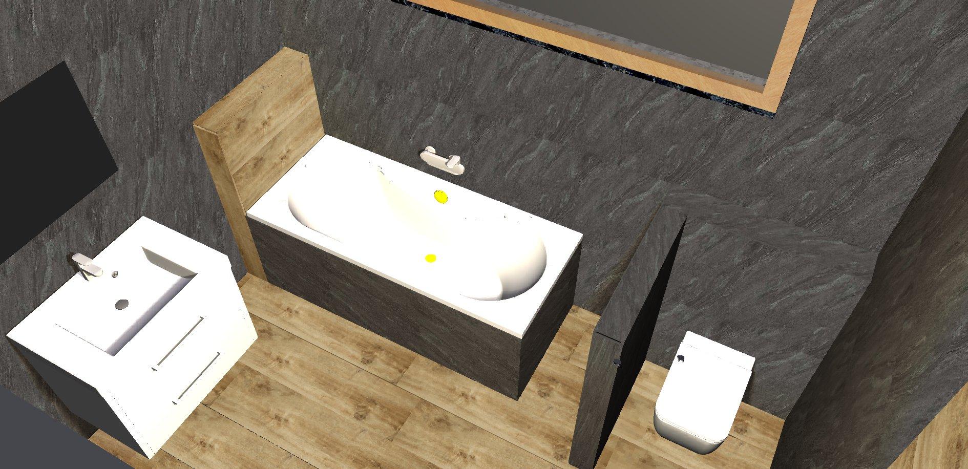 Koupelna - návrh 3b