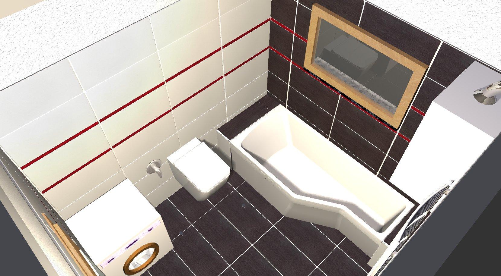 Koupelna - návrh 5b